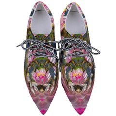 Flower Ornament Color Background Pointed Oxford Shoes