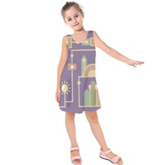Background Infographic Travel Kids  Sleeveless Dress