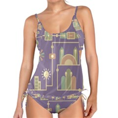 Background Infographic Travel Tankini Set by Pakrebo