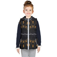 Background Pattern Bright Graphic Kids  Hooded Puffer Vest