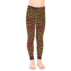 Celtic Spiritual Pattern Art Kids  Legging by Pakrebo