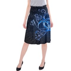Background Creativity Form Pattern Midi Beach Skirt