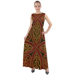Celtic Spiritual Pattern Art Chiffon Mesh Maxi Dress