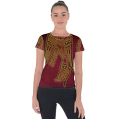Celtic Spiritual Pattern Art Short Sleeve Sports Top