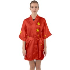 China Flag Quarter Sleeve Kimono Robe by FlagGallery