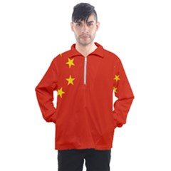 China Flag Men s Half Zip Pullover by FlagGallery