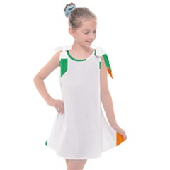 Ireland Flag Irish Flag Kids  Tie Up Tunic Dress by FlagGallery