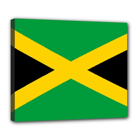 Jamaica Flag Deluxe Canvas 24  X 20  (stretched) by FlagGallery
