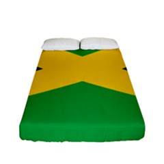 Jamaica Flag Fitted Sheet (full/ Double Size) by FlagGallery