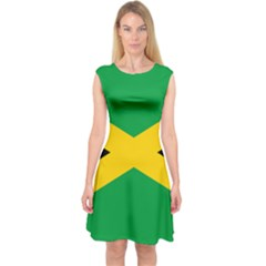 Jamaica Flag Capsleeve Midi Dress by FlagGallery