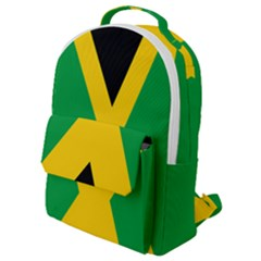 Jamaica Flag Flap Pocket Backpack (small) by FlagGallery