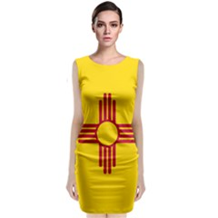 New Mexico Flag Sleeveless Velvet Midi Dress by FlagGallery
