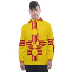 New Mexico Flag Men s Front Pocket Pullover Windbreaker by FlagGallery
