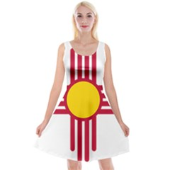 New Mexico Flag Reversible Velvet Sleeveless Dress by FlagGallery