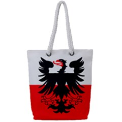 Flag Of Deventer  Full Print Rope Handle Tote (small)