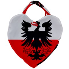 Flag Of Deventer  Giant Heart Shaped Tote by abbeyz71