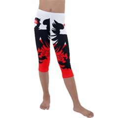 Flag Of Deventer  Kids  Lightweight Velour Capri Leggings  by abbeyz71
