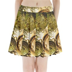 Bubbles Fantasy Green Design Pleated Mini Skirt