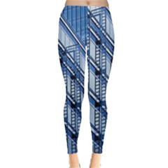Abstract Architecture Azure Leggings