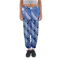 Abstract Architecture Azure Women s Jogger Sweatpants