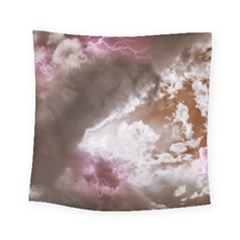 Thunder Thunderstorm Storm Weather Square Tapestry (small) by Pakrebo