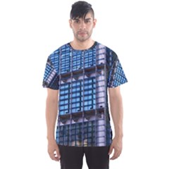 Abstract Architecture Background Men s Sports Mesh Tee