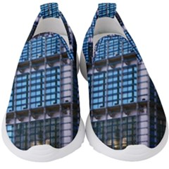 Abstract Architecture Background Kids  Slip On Sneakers