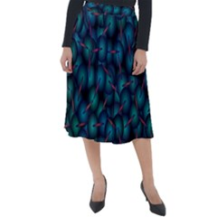 Background Abstract Textile Design Classic Velour Midi Skirt