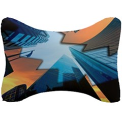 London Skyscraper Lighting Contrast Seat Head Rest Cushion