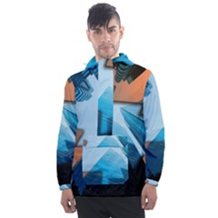 London Skyscraper Lighting Contrast Men s Front Pocket Pullover Windbreaker