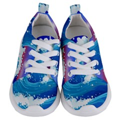 Japanese Wave Japanese Ocean Waves Kids  Lightweight Sports Shoes