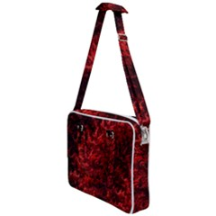 Red Abstract Fractal Background Cross Body Office Bag by Pakrebo