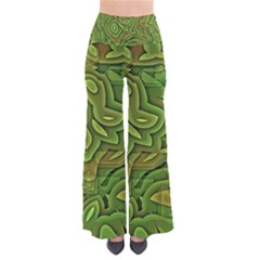 Background Abstract Green Seamless So Vintage Palazzo Pants