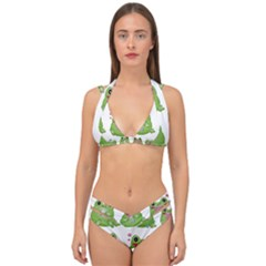 Kawaii Frog Rainy Season Japanese Double Strap Halter Bikini Set by Pakrebo