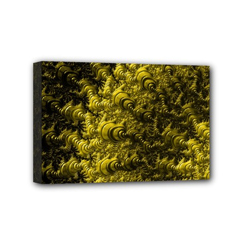 Rich Yellow Digital Abstract Mini Canvas 6  X 4  (stretched)