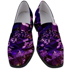 Light Violet Purple Technology Women s Chunky Heel Loafers