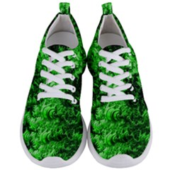 Green Abstract Fractal Background Men s Lightweight Sports Shoes