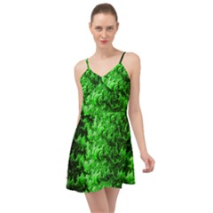 Green Abstract Fractal Background Summer Time Chiffon Dress