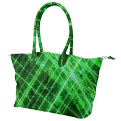 Futuristic Background Laser Green Canvas Shoulder Bag