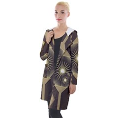 Background Colors Abstract Hooded Pocket Cardigan by Pakrebo