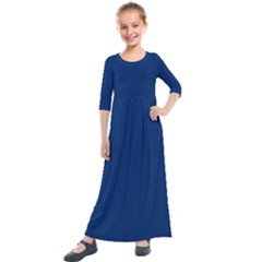 Blue Bunker Hill Flag Kids  Quarter Sleeve Maxi Dress by abbeyz71