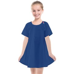 Blue Bunker Hill Flag Kids  Smock Dress by abbeyz71