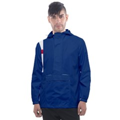 Blue Bunker Hill Flag Men s Front Pocket Pullover Windbreaker by abbeyz71