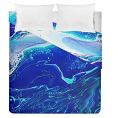 Paint Acrylic Paint Art Painting Blue Duvet Cover Double Side (queen Size) by Pakrebo