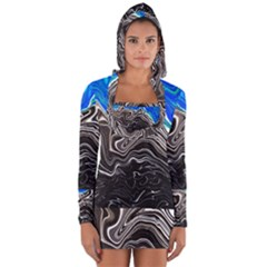 Paint Acrylic Paint Art Colorful Long Sleeve Hooded T-shirt by Pakrebo