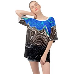 Paint Acrylic Paint Art Colorful Oversized Chiffon Top