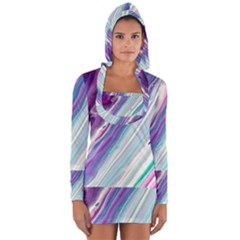 Color Acrylic Paint Art Painting Long Sleeve Hooded T-shirt by Pakrebo
