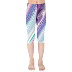 Color Acrylic Paint Art Painting Kids  Capri Leggings  by Pakrebo