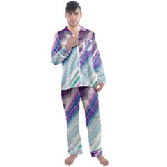 Color Acrylic Paint Art Painting Men s Satin Pajamas Long Pants Set by Pakrebo