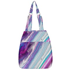 Color Acrylic Paint Art Painting Center Zip Backpack